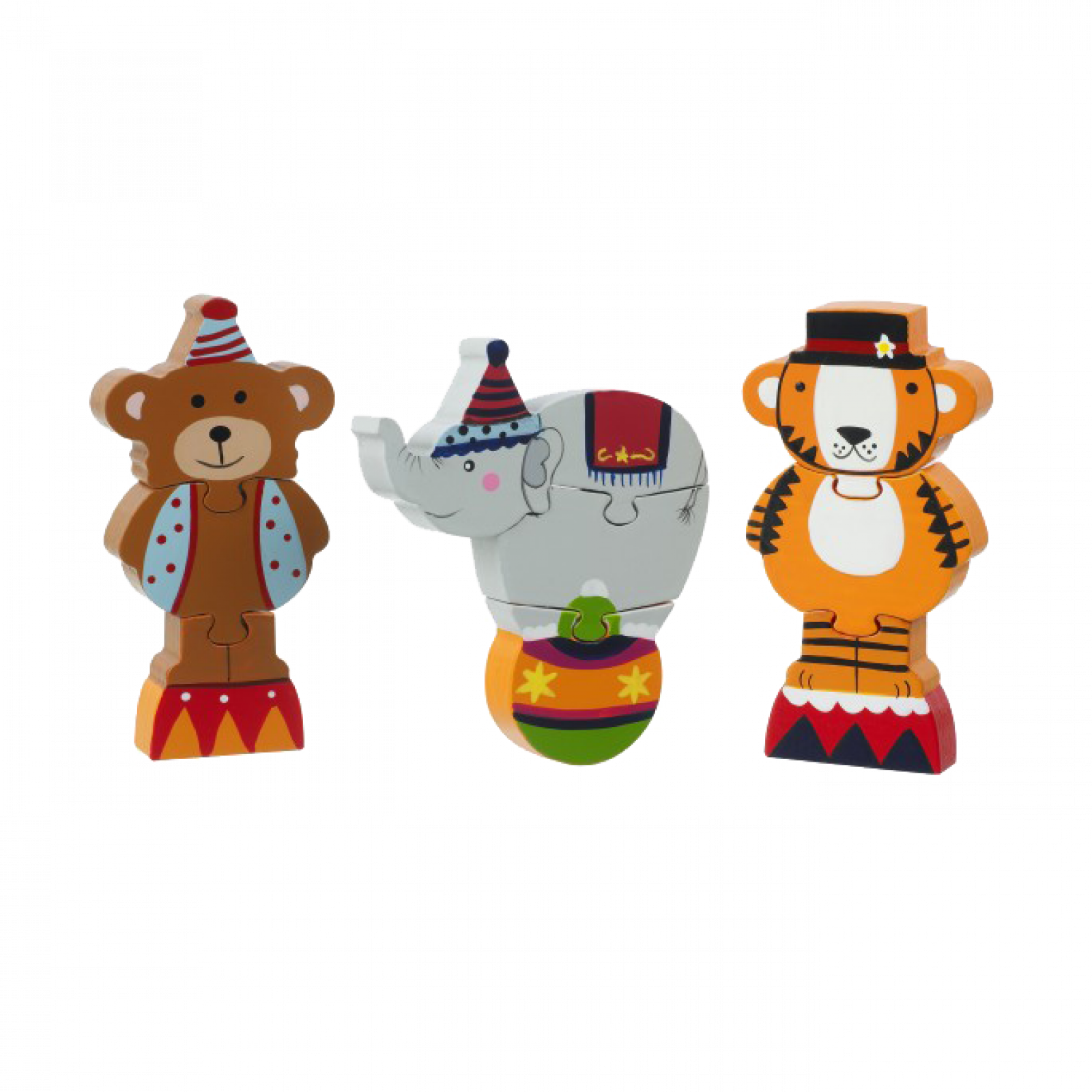 Circus Mini Puzzles - Set Of 3 Wooden Puzzles 1+ thumbnails