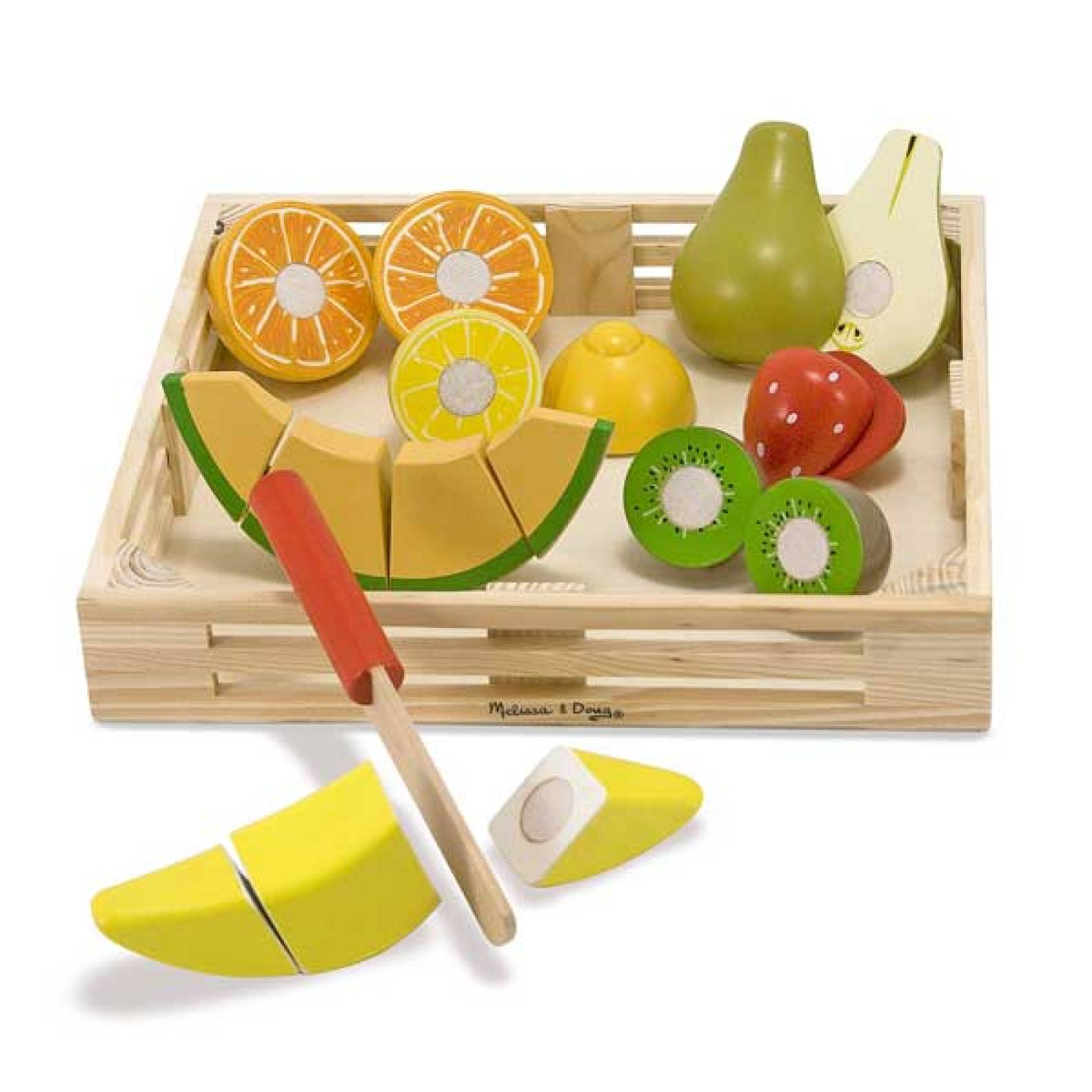 Wooden Cutting Fruit Play Food Set 3+ thumbnails