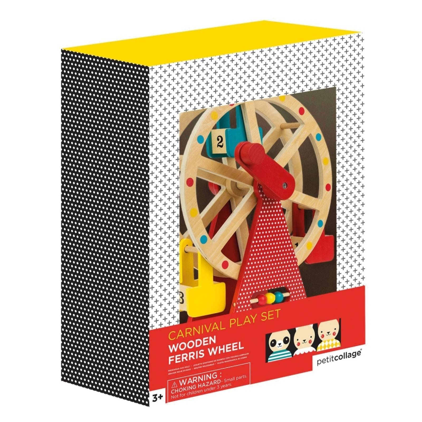 Wooden Carnival Play Set Ferris Wheel Toy By Petit Collage