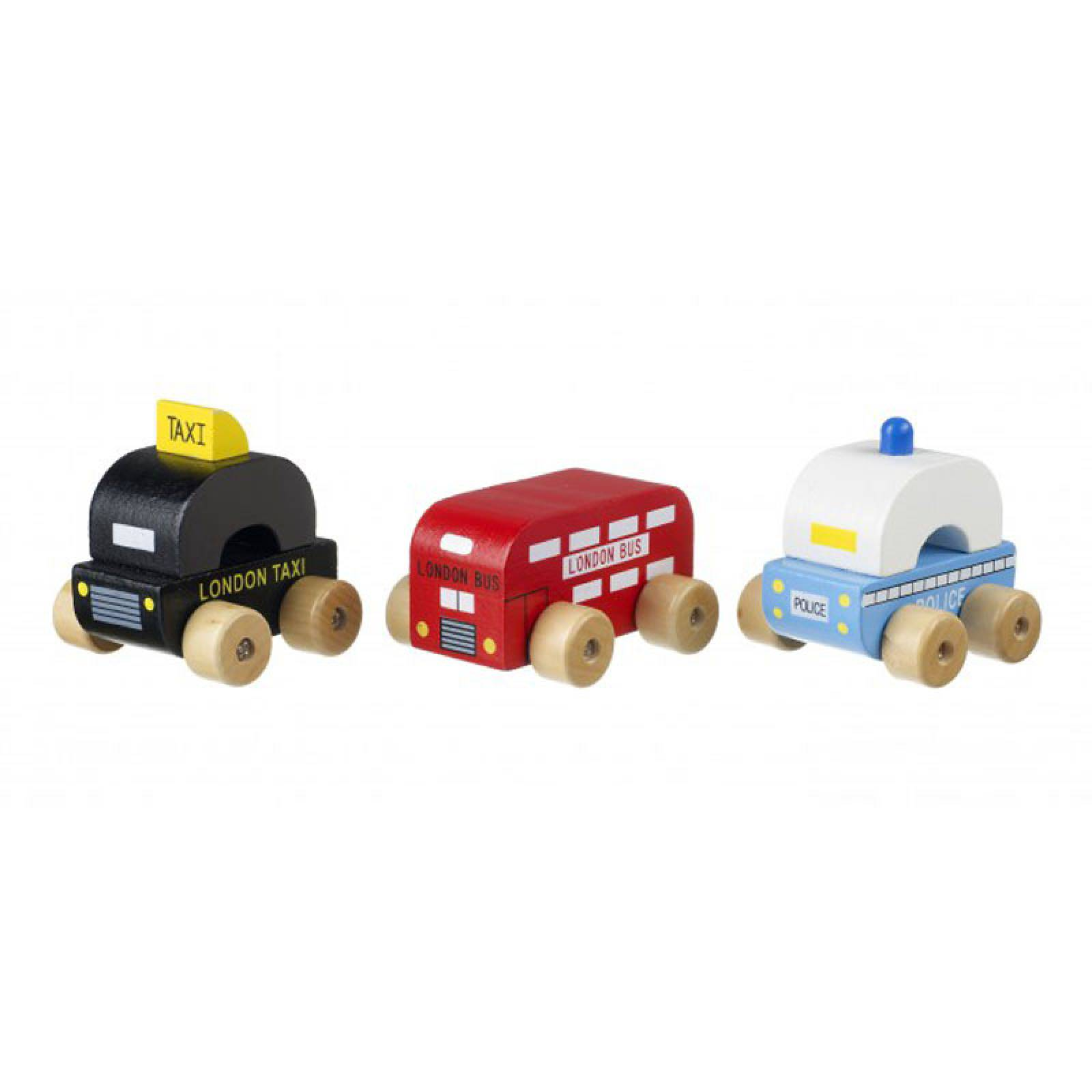 Wooden First London Vehicles By Orange Tree 1+