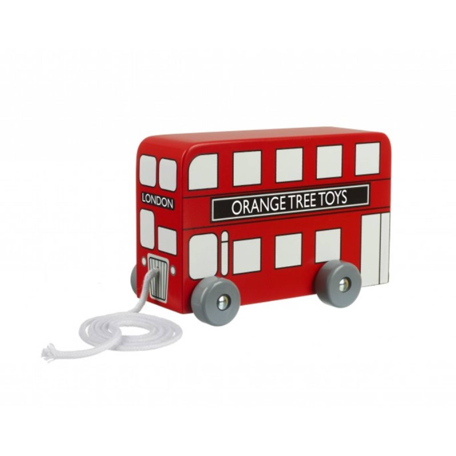 Wooden London Bus Pull Along Toy 1+