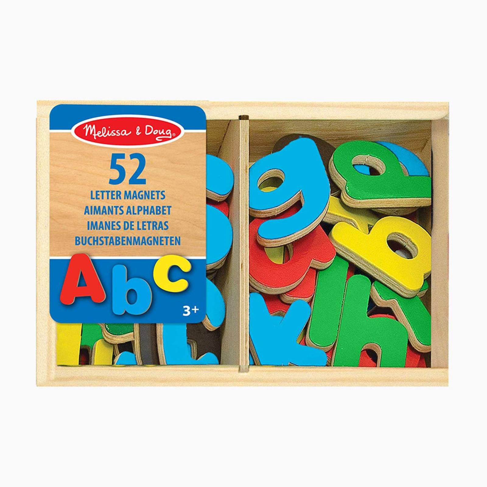 Wooden Letter Alphabet Magnets 3+