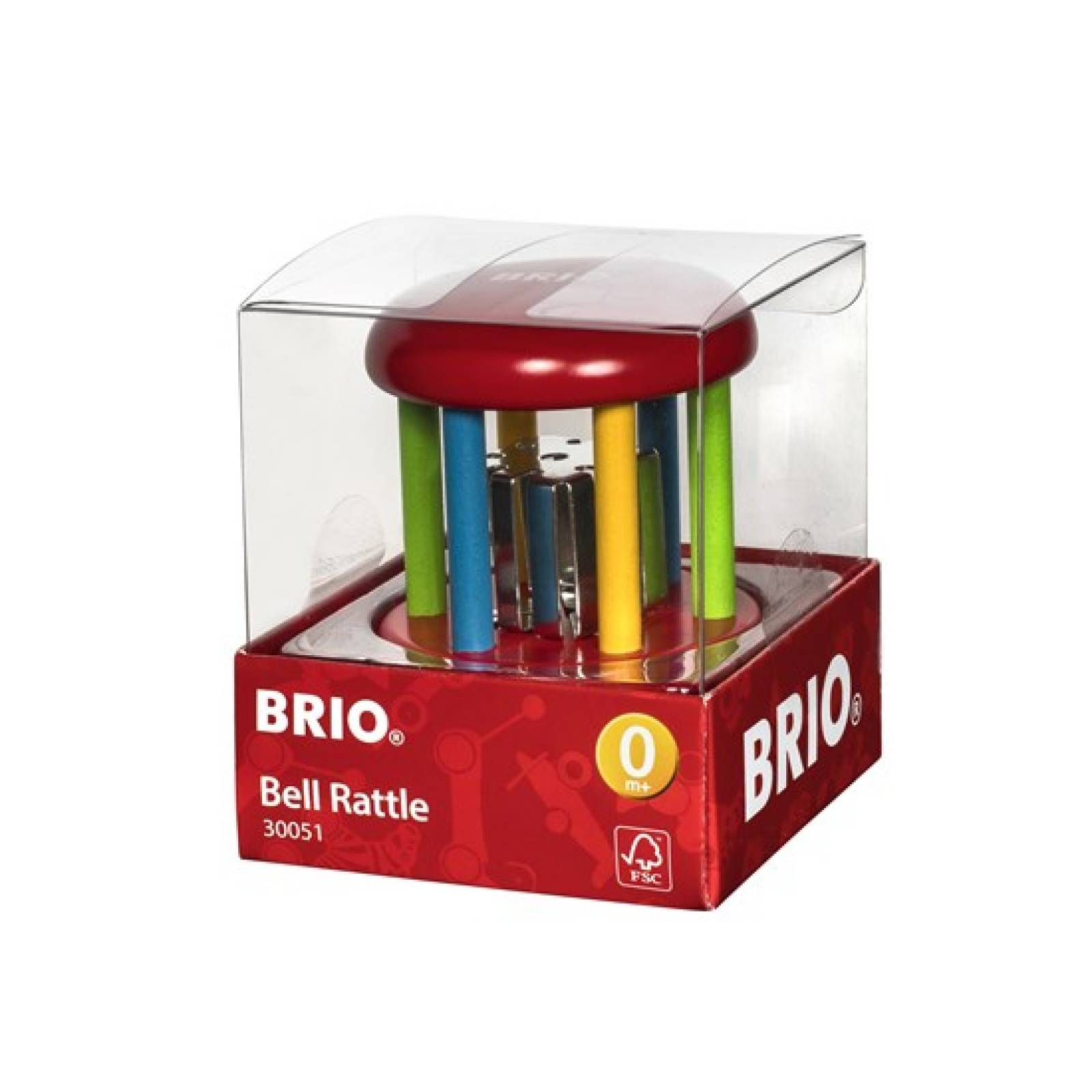 Wooden Multicolored Bell Rattle By BRIO 0+ thumbnails