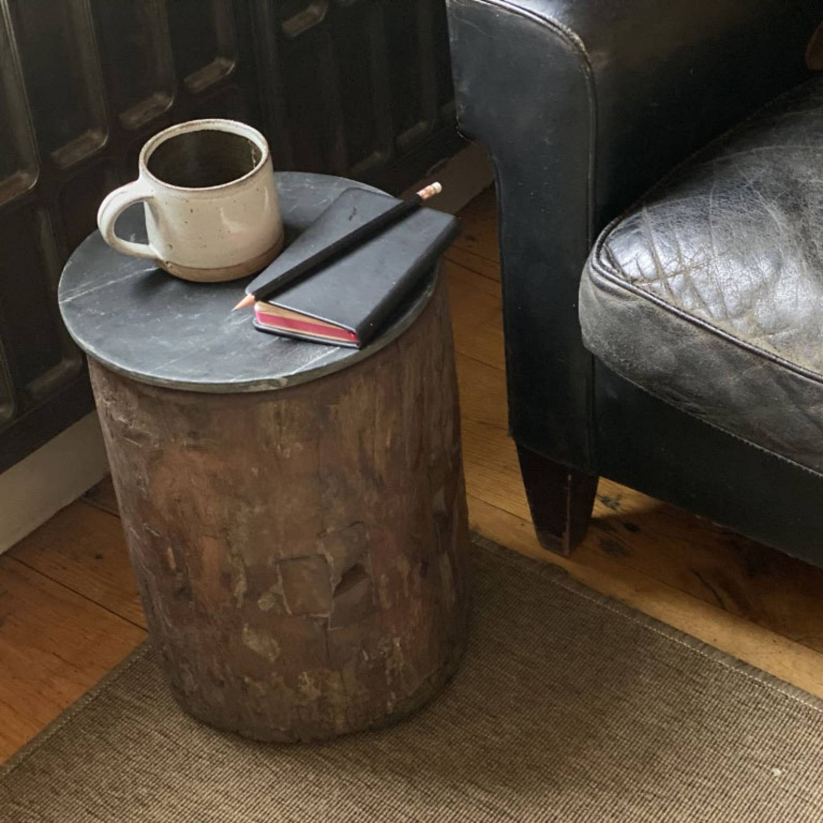 Rustic Wooden Table Made From Recycled Wood H:35cm thumbnails