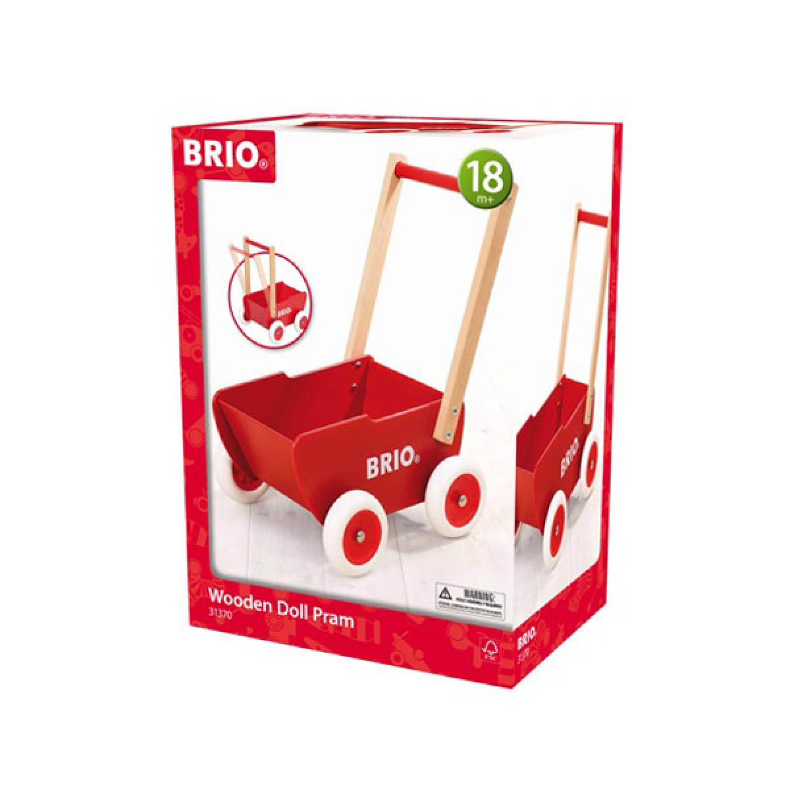 BRIO® Wooden Dolls Pram 31370 18m+ thumbnails