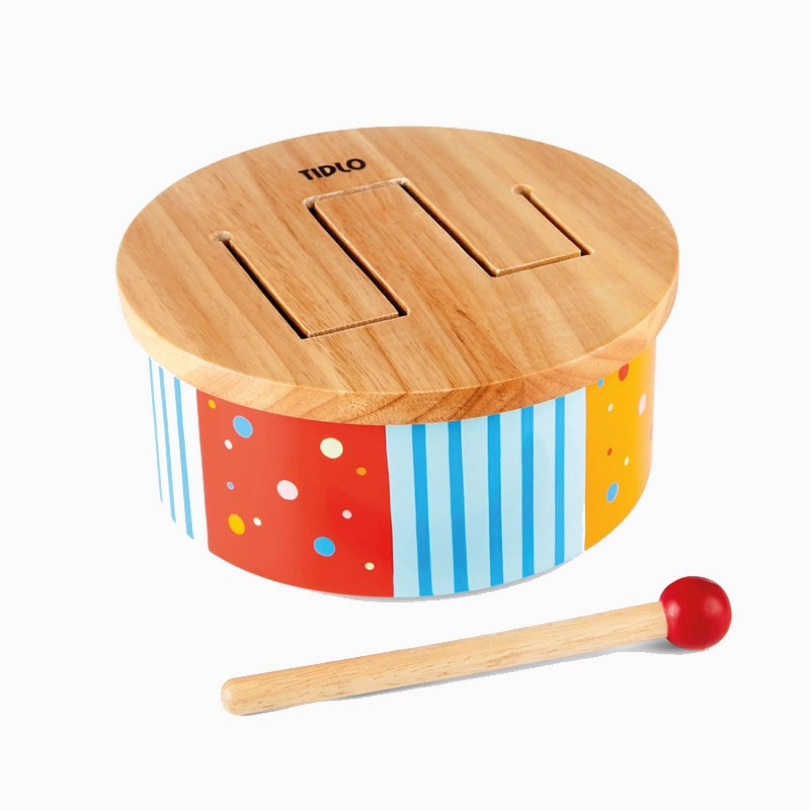Wooden Rainbow Drum Musical Instrument 1+
