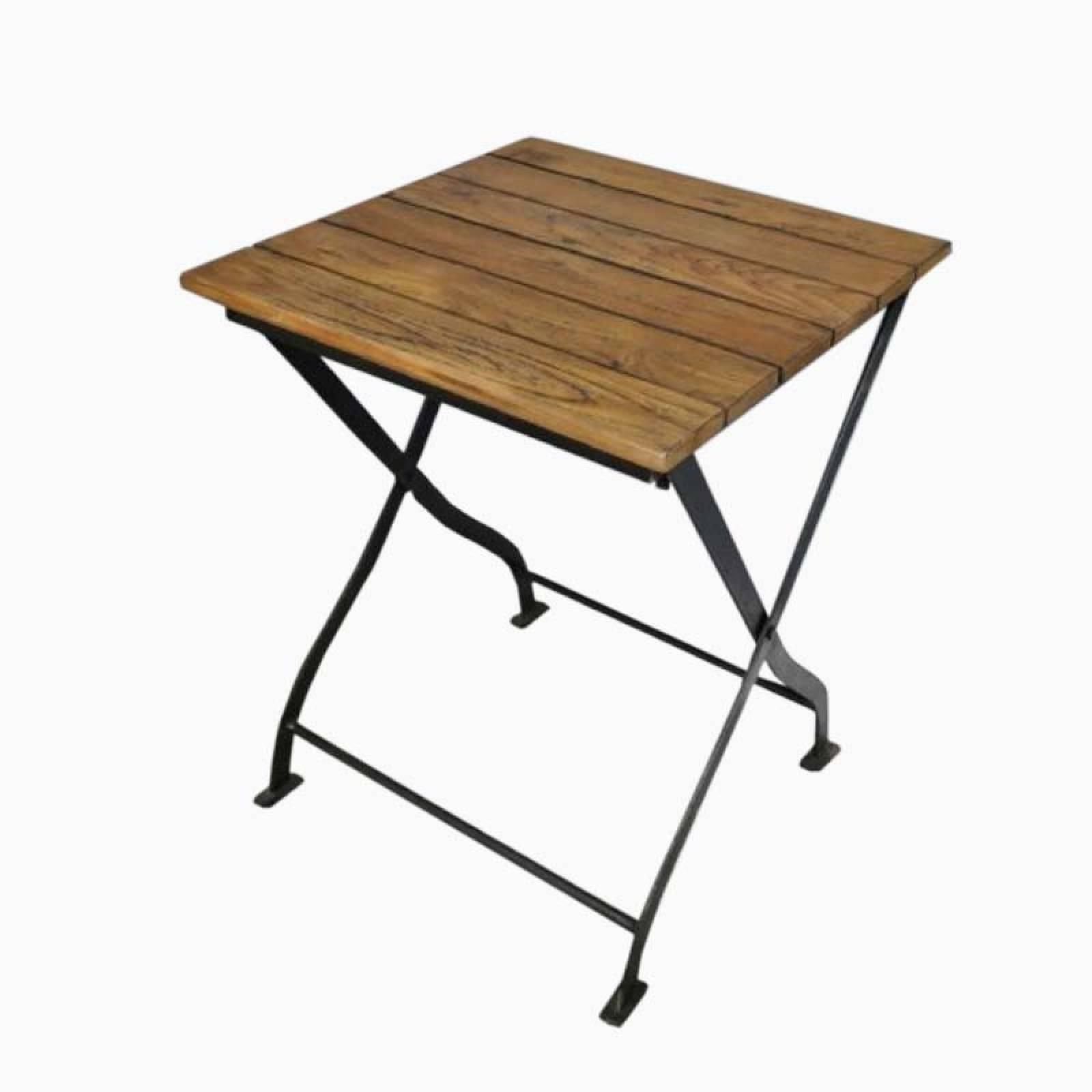 Folding Wooden Slatted Garden Table