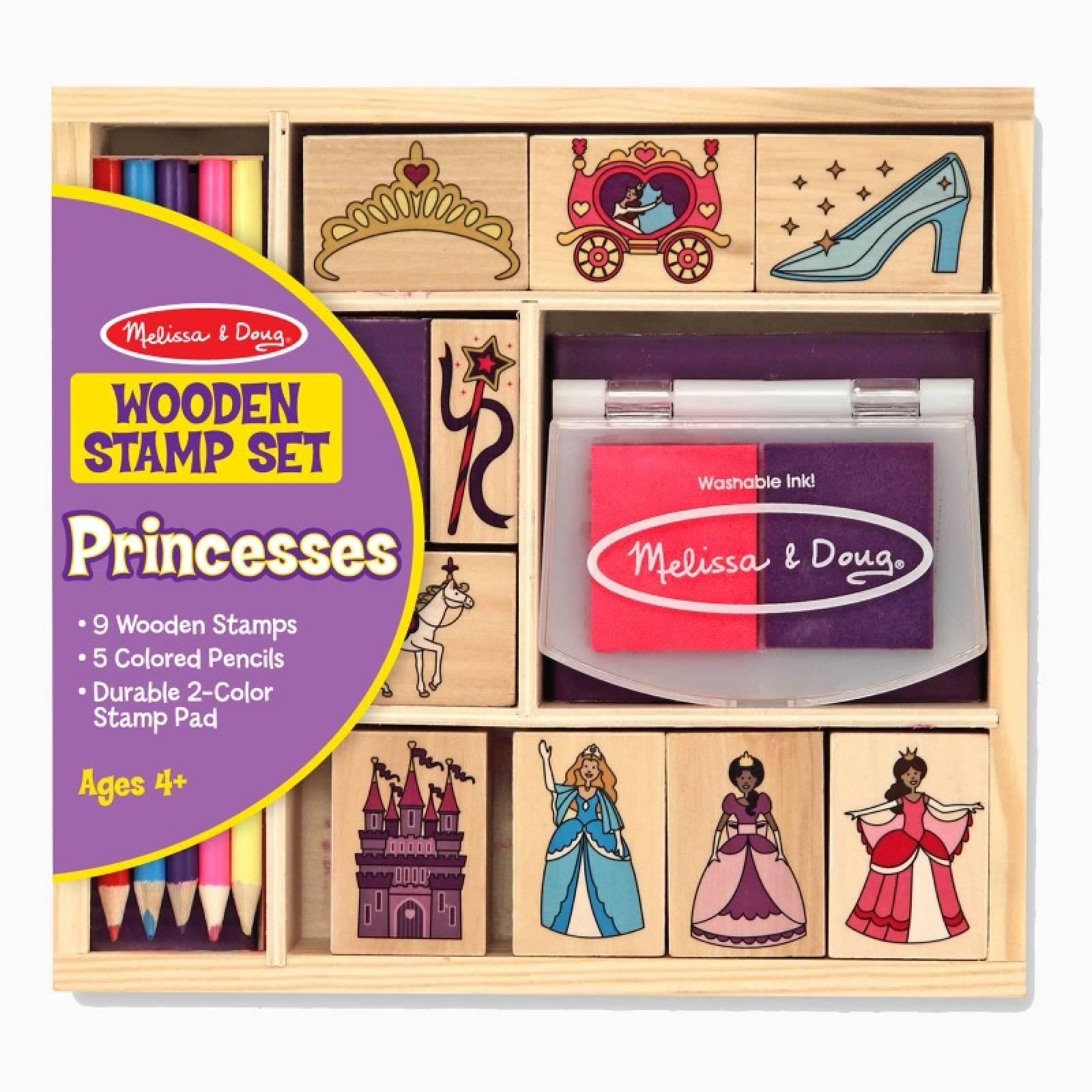 Wooden Stamp Set - Princesses 4+