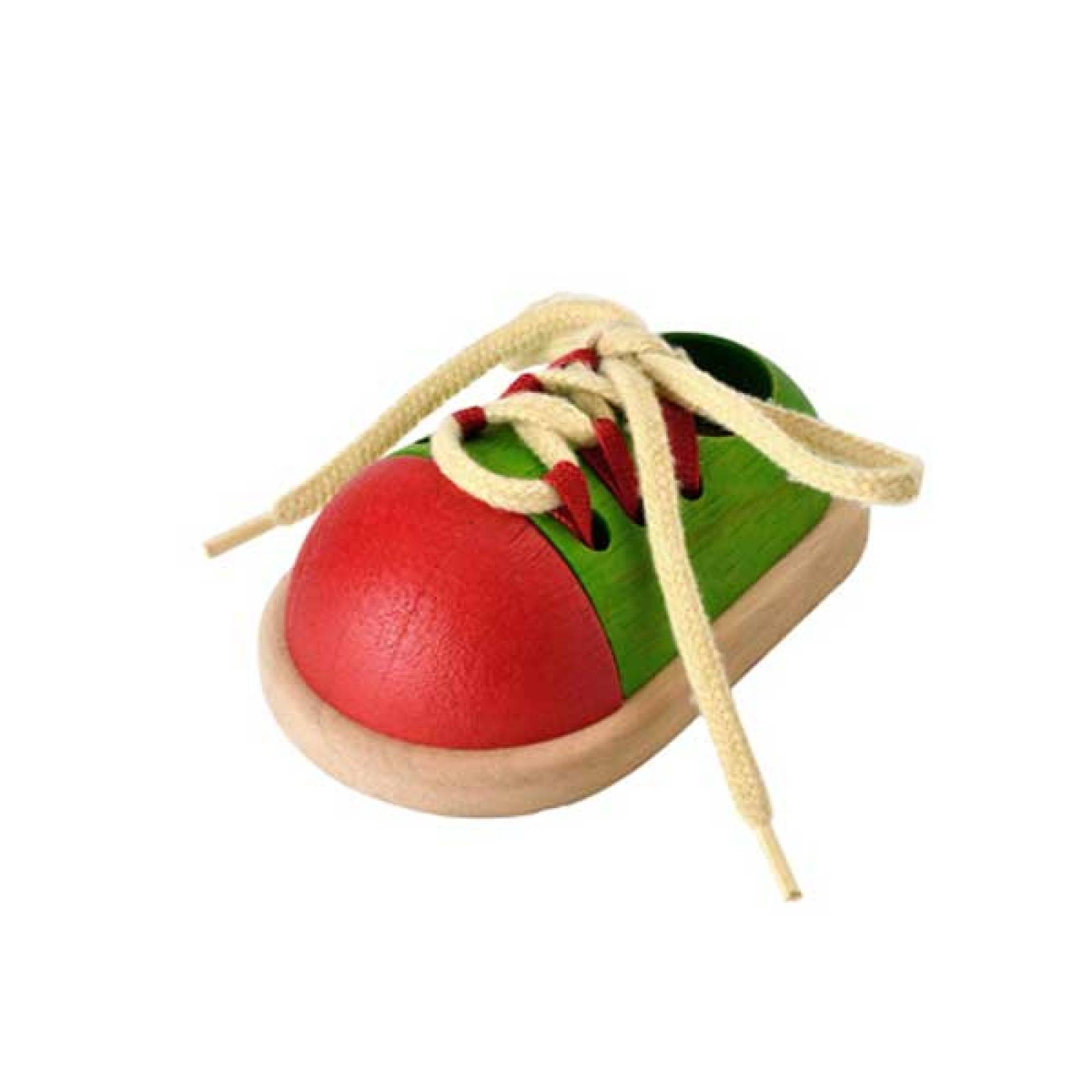 Wooden Tie Up Shoe Toy By Plan Toys 3+