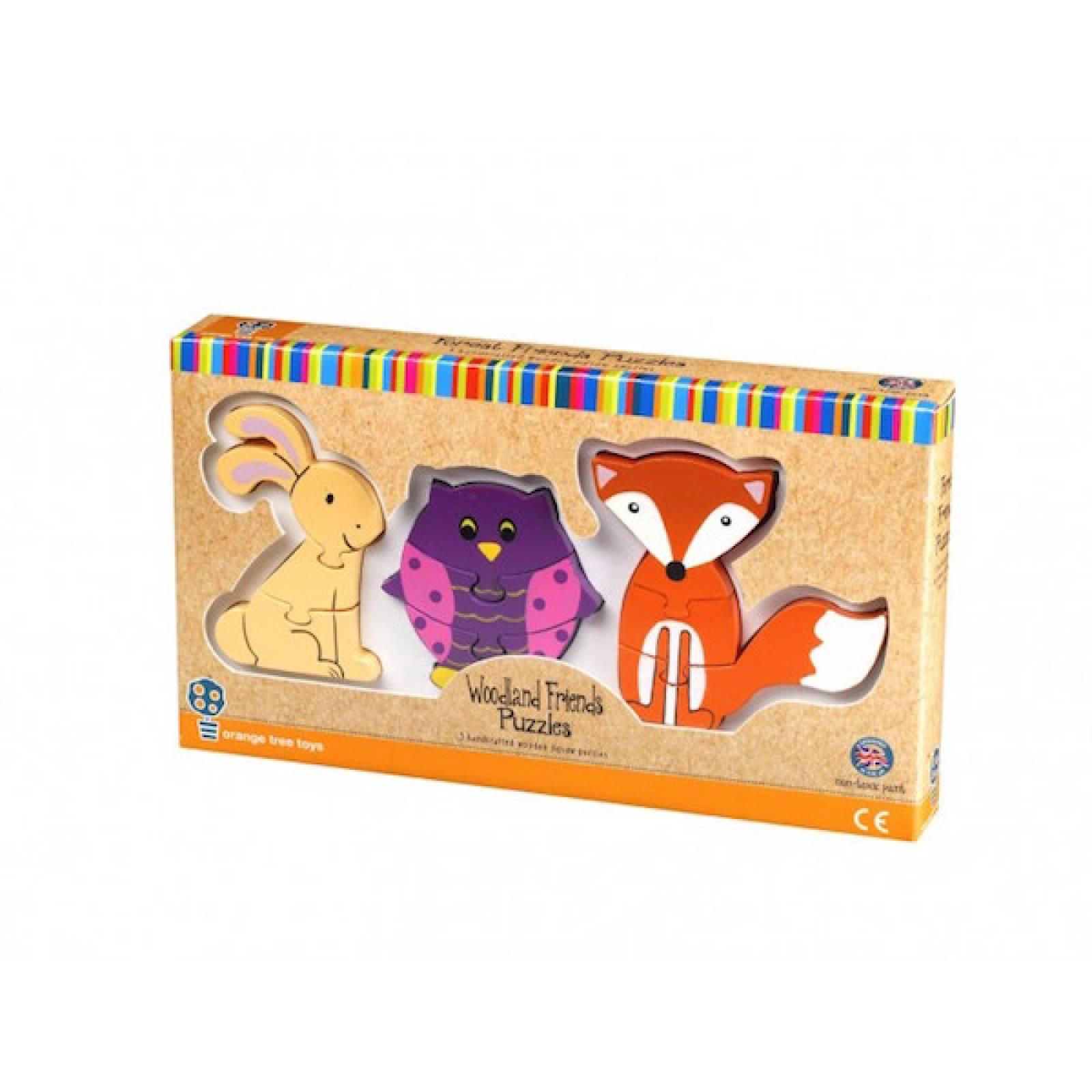 Woodland Mini Puzzles - Set Of 3 Wooden Puzzles 1+ thumbnails
