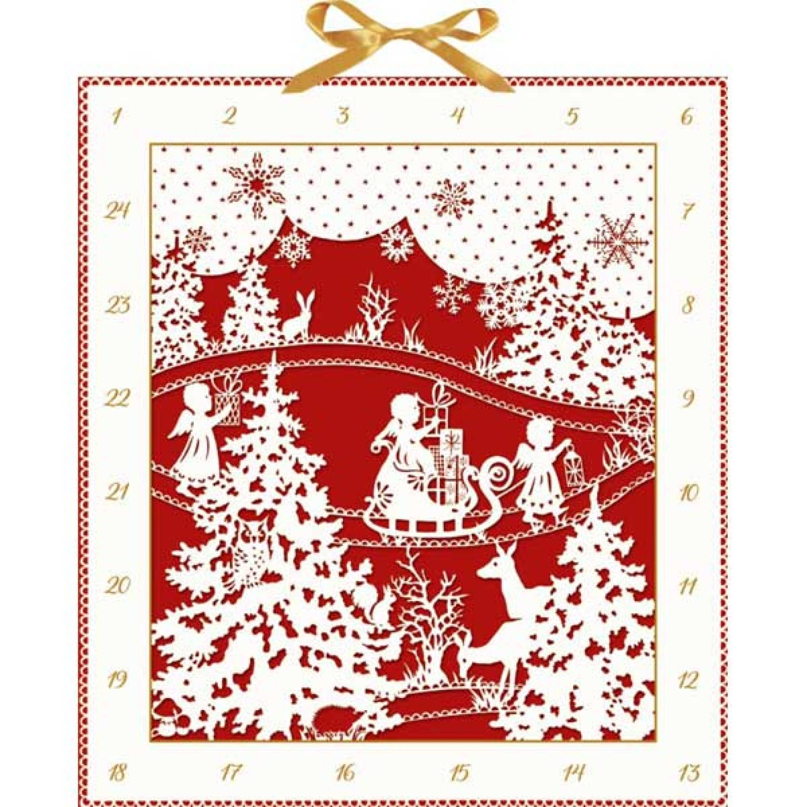 Woodland Silhouette Christmas Advent Calendar