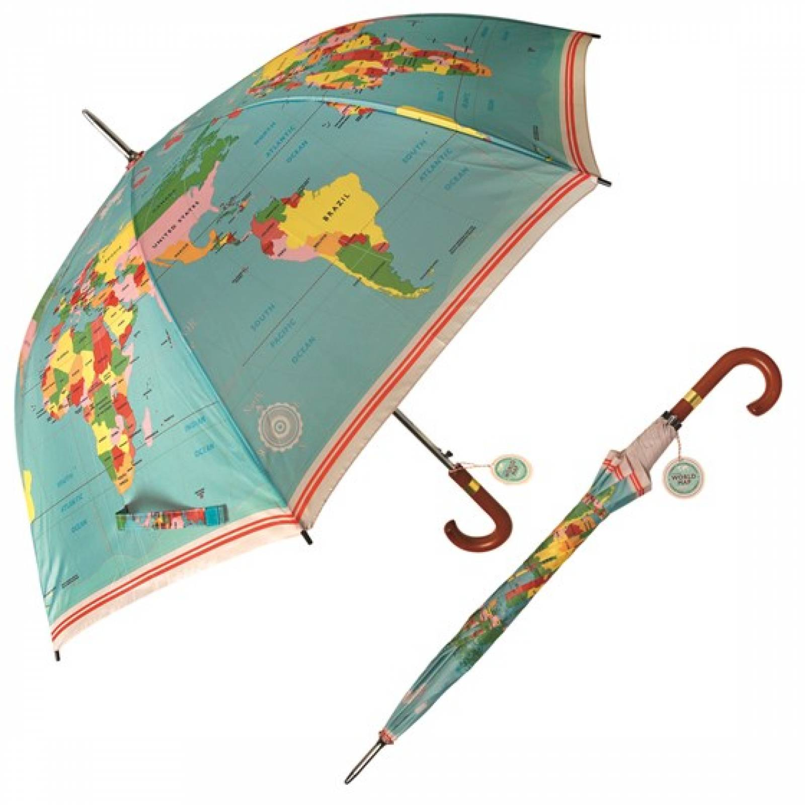Vintage World Map - Adult Umbrella 3+