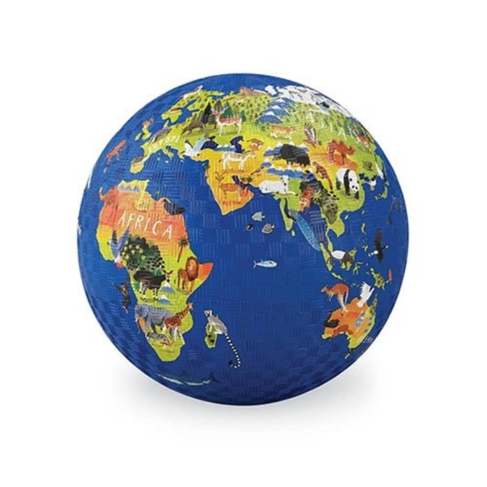 World - Large Rubber Picture Ball 18cm