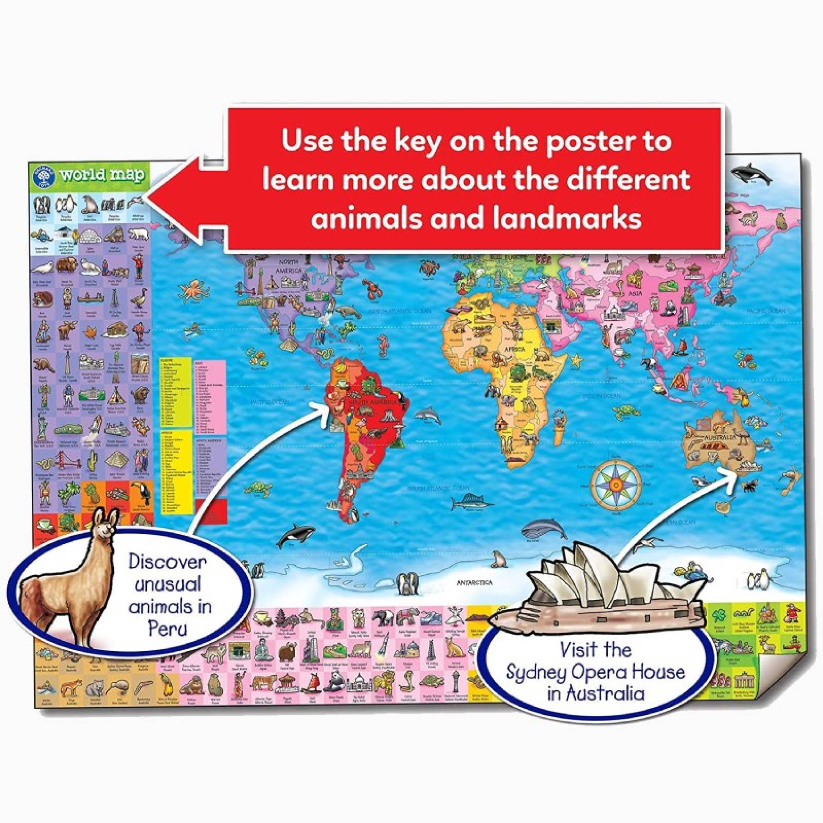 World Map Puzzle And Poster Orchard Toys 5+ thumbnails