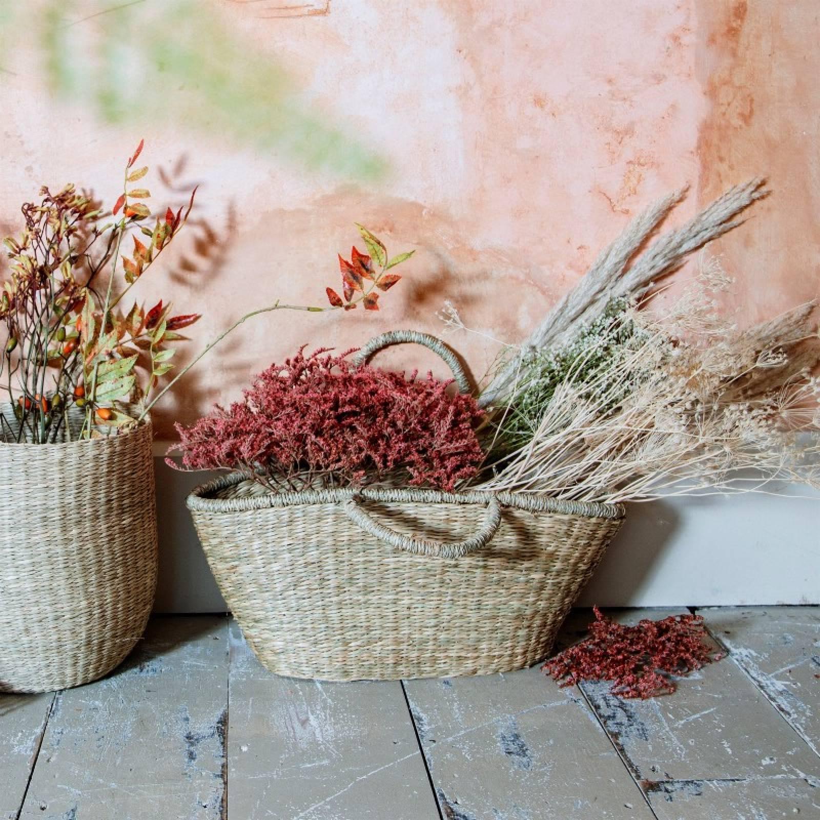 Woven Seagrass Shopping Basket thumbnails