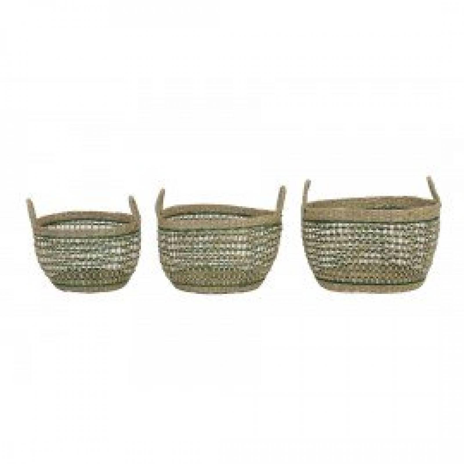 Tarac Green Seagrass Basket L 40x24cm