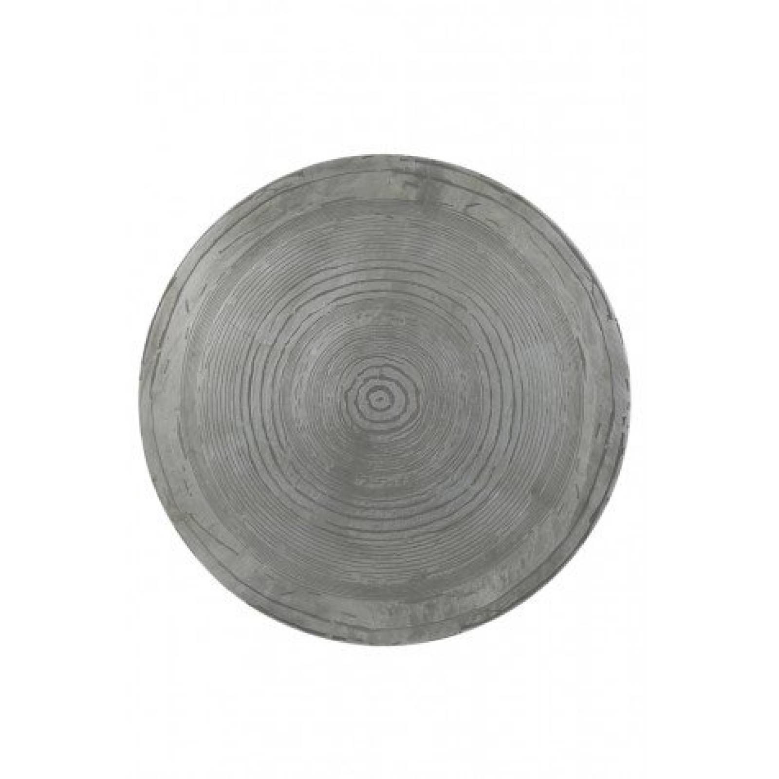 Trunk Circular Side Table In Matt Silver And Black 50x39 thumbnails