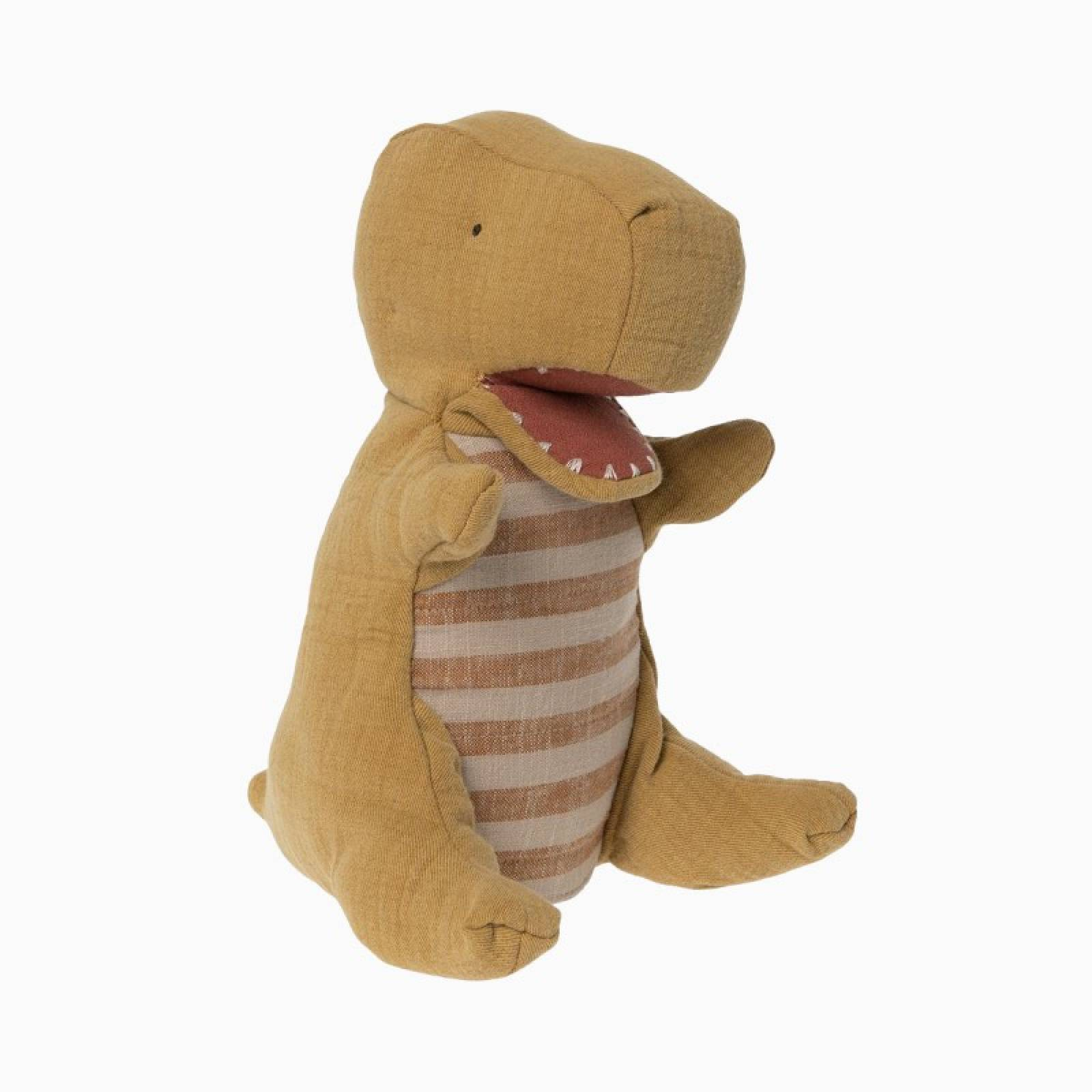 Yellow Dinosaur Hand Puppet By Maileg 0+