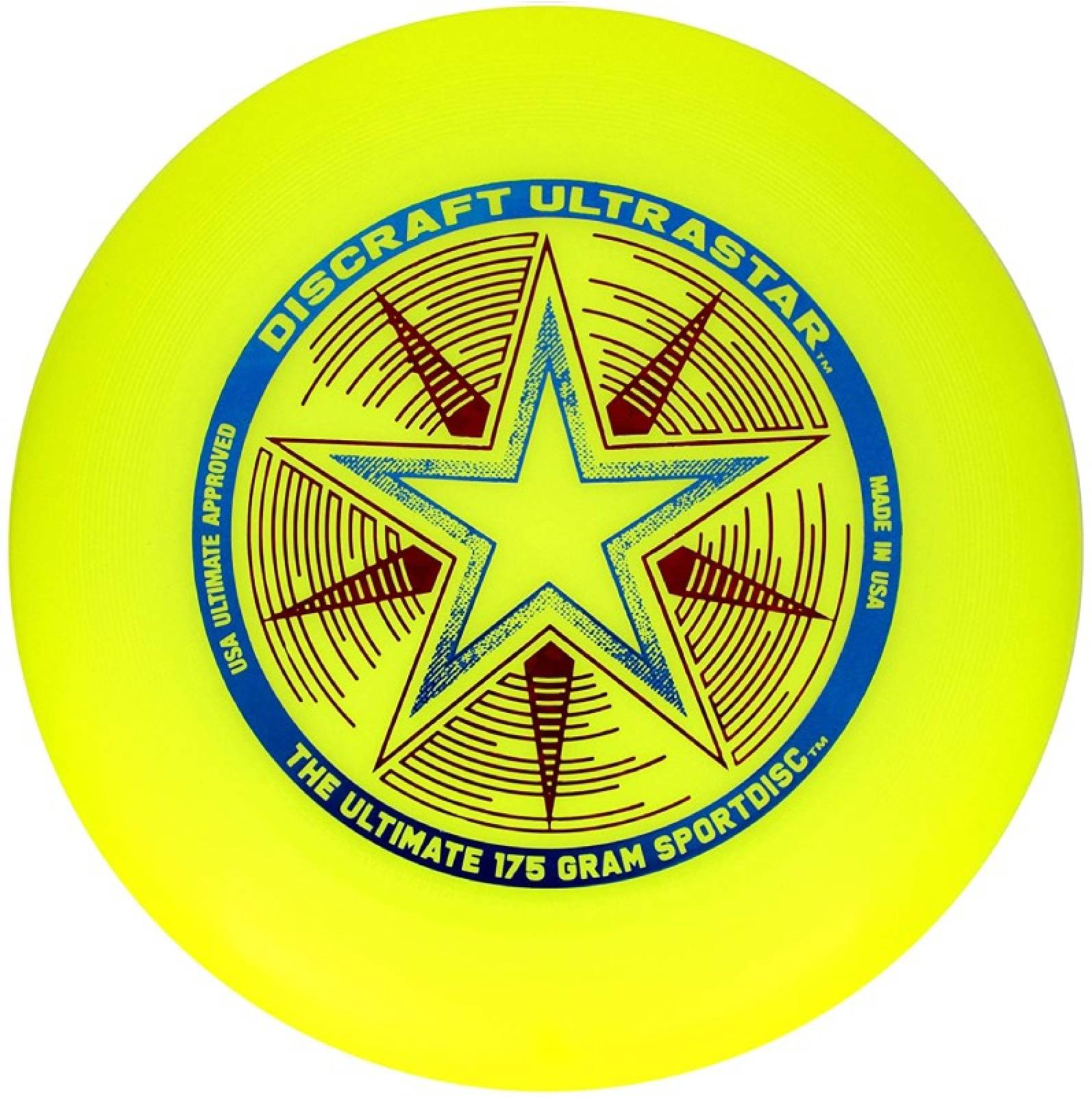 Yellow Discraft Ultra Star Frisbee