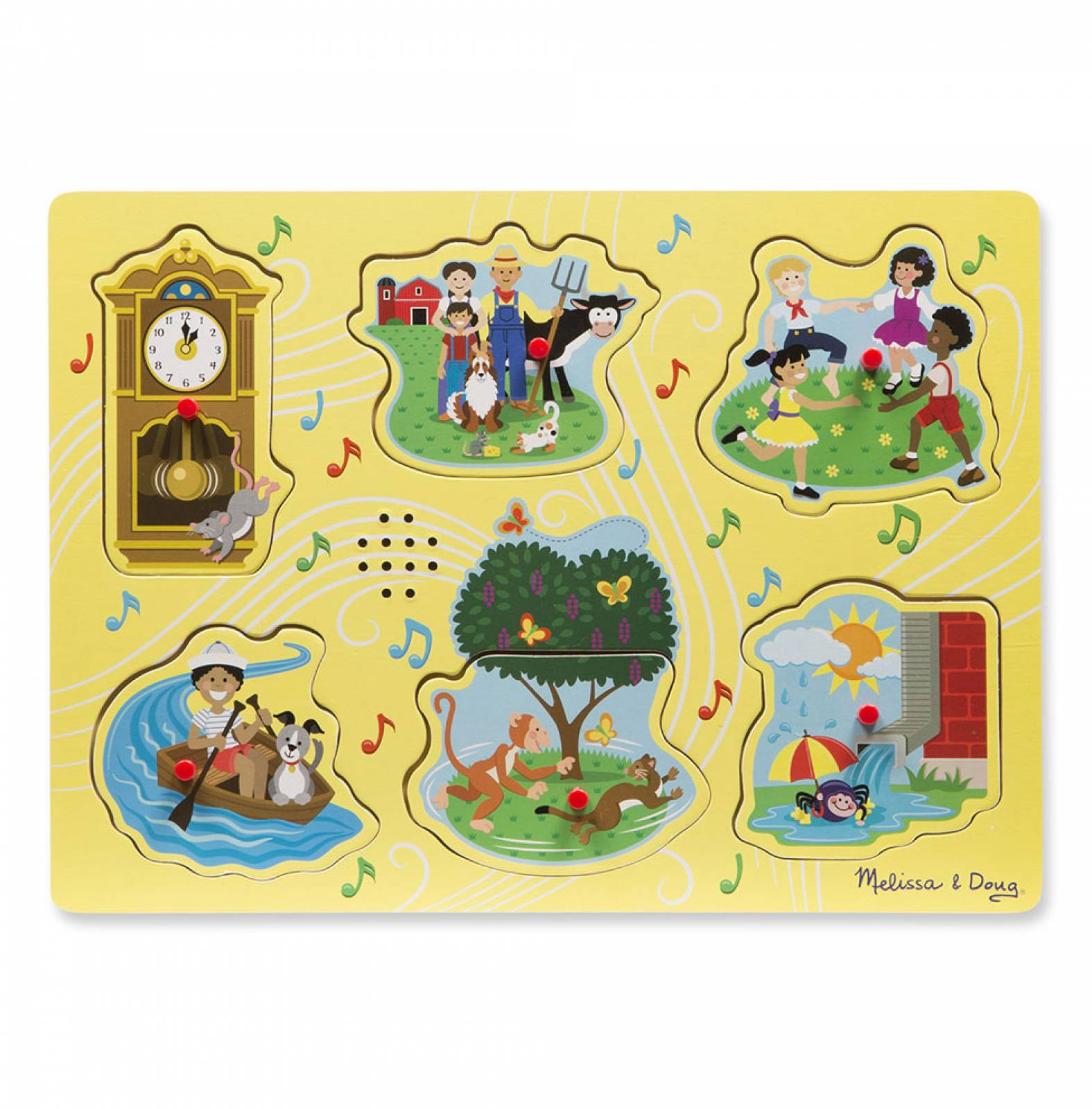 Yellow Sing Along Nursery Rhymes Sound Puzzle