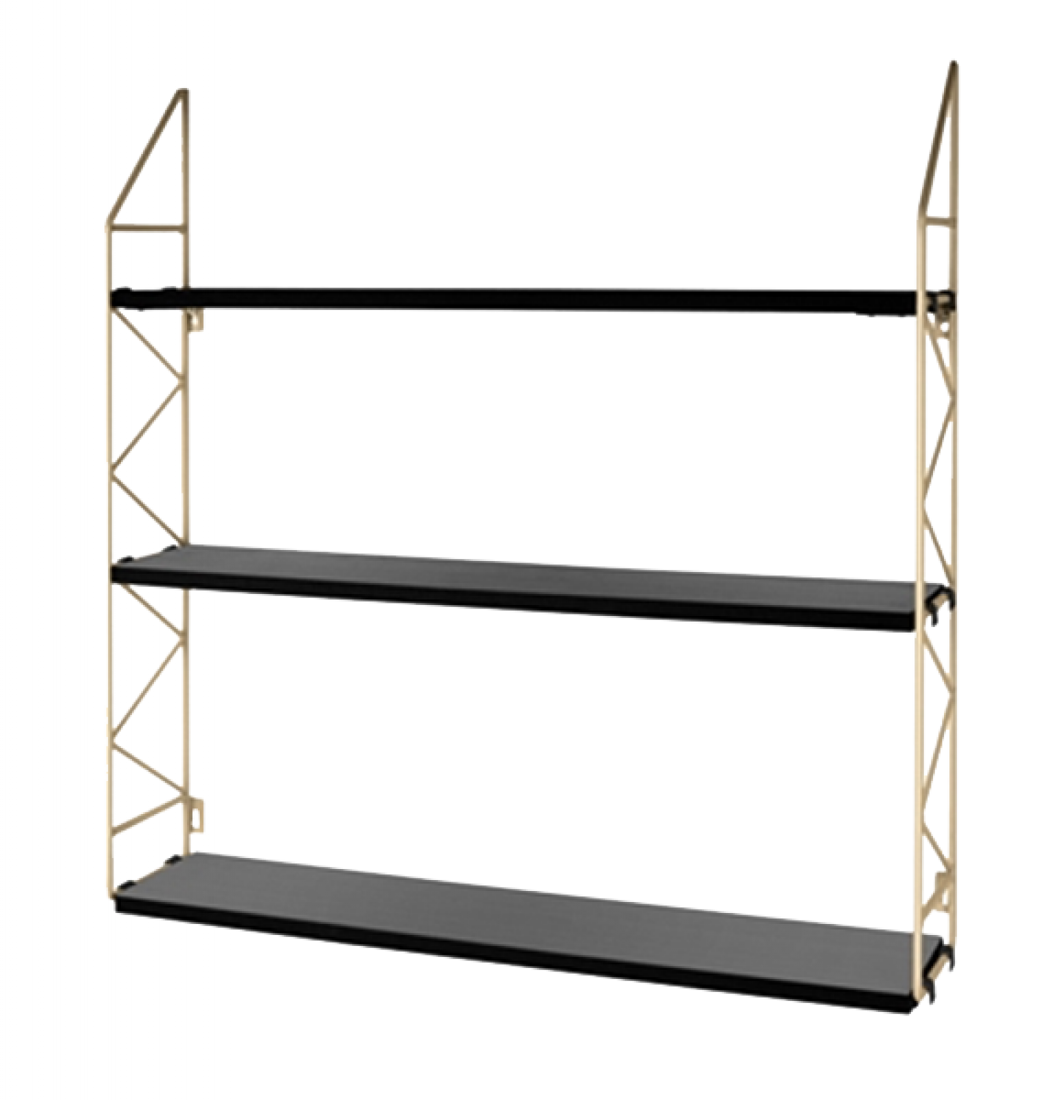 Wall Mounting Shelves With Zig Zag Metal Sides thumbnails