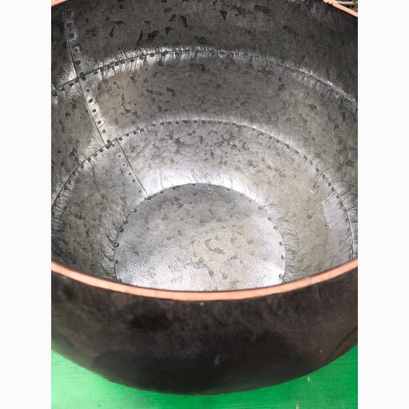 Small Curved Zinc Planter Pot thumbnails