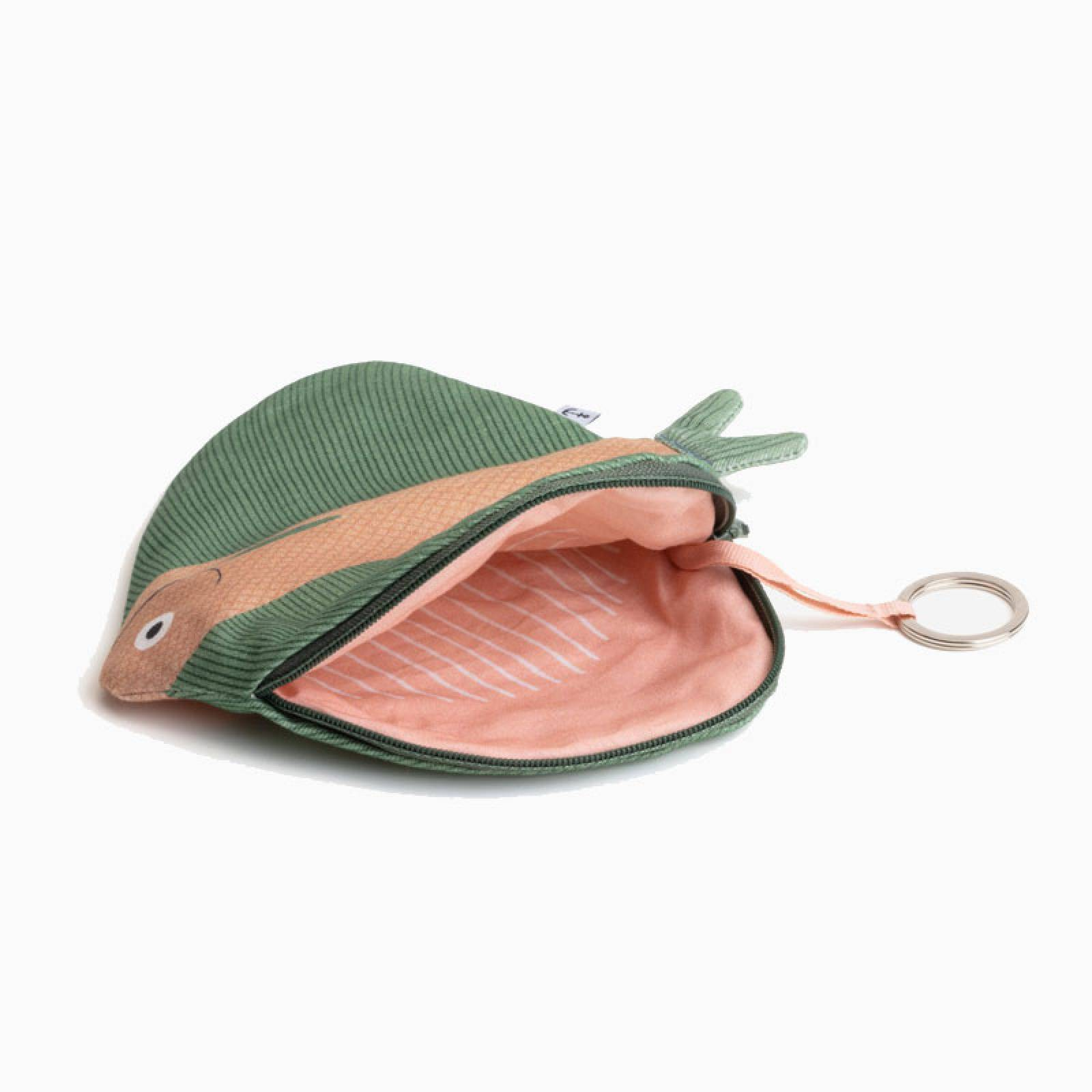 Zipped Fish Pouch By Don Fisher - Green Fanfish thumbnails