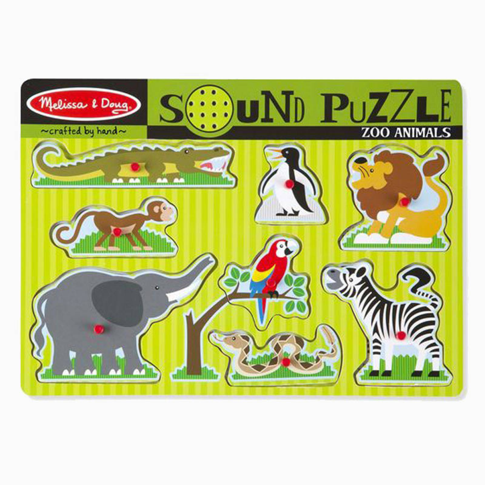 Zoo Animal Sound Puzzle By Melissa & Doug
