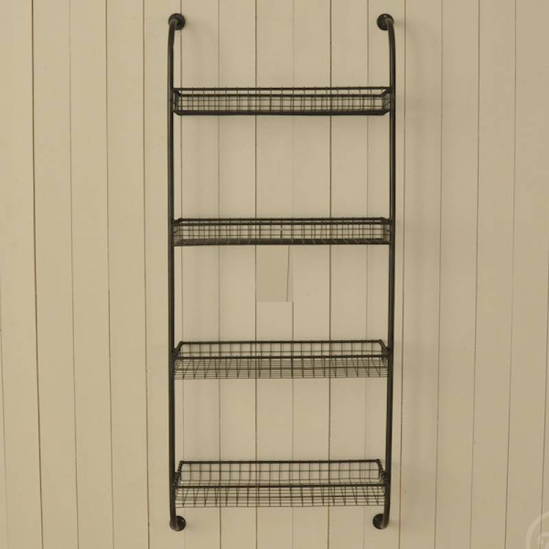 wall mounting shelf unit with 4 wire shelves Attach Shelf to Wall