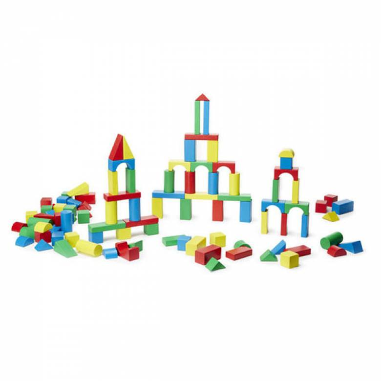 100 Piece Wooden Blocks Set 3+