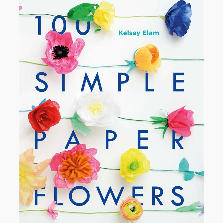 100 Simple Paper Flowers - Paperback Book
