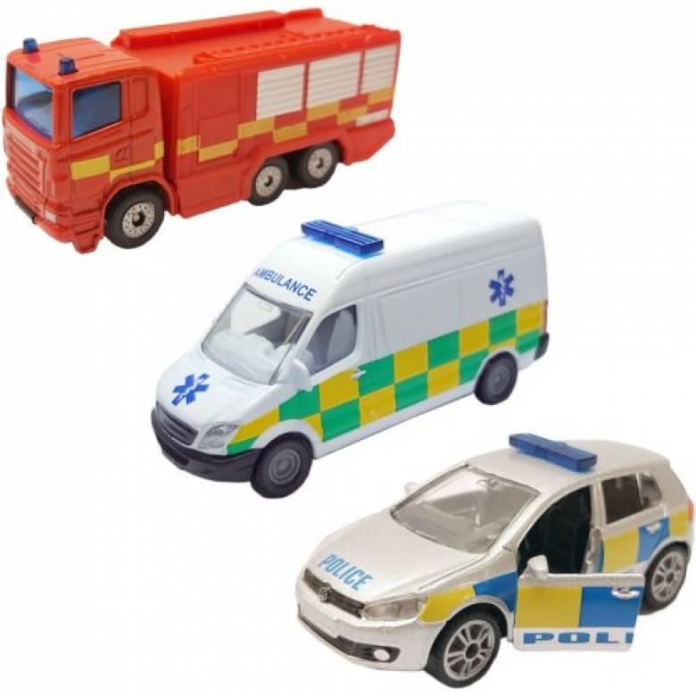SIKU 3 Car Emergency Vehicle Set