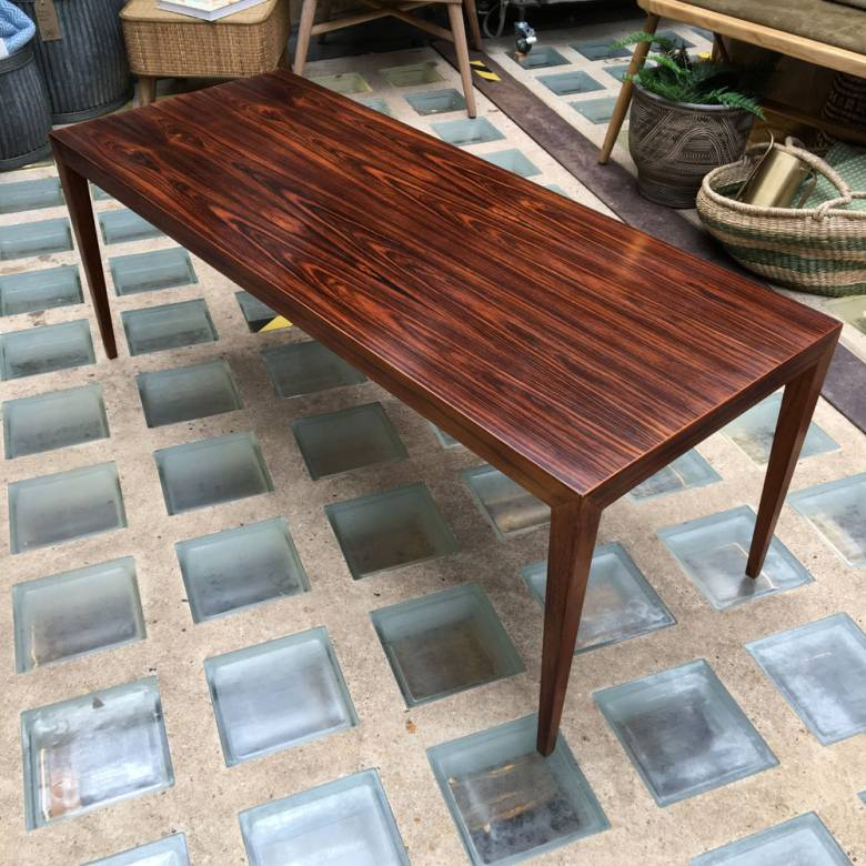 1960s Rosewood Coffee Table By Severin Hansen Haslev Møbelfabrik