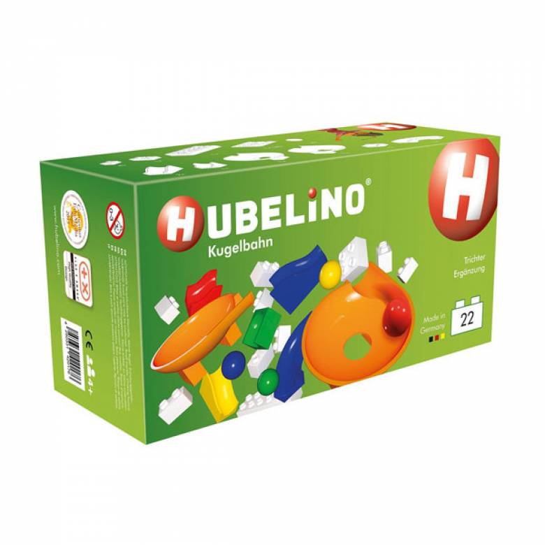 Hubelino 22pc Marble Run Funnel Supplement Set 4+