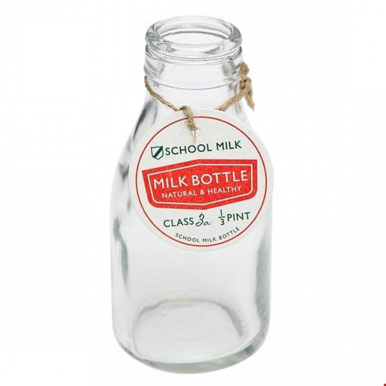 Old School Milk Bottle 13cm
