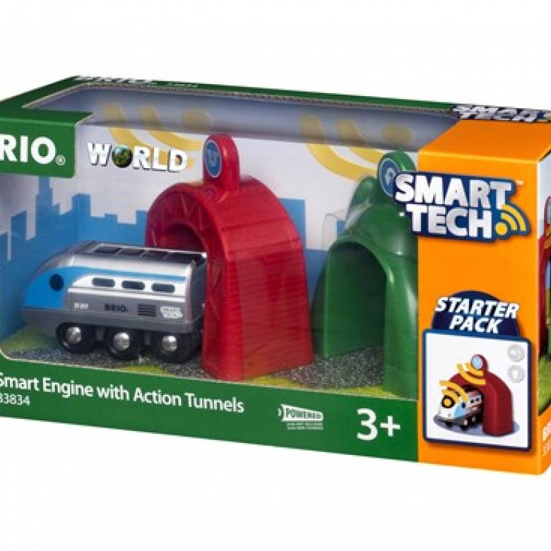 Smart Tech Engine Action Tunnel BRIO Wooden Railway Age 3+