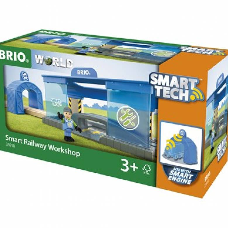 Smart Tech Railway Workshop BRIO Wooden Railway Age 3+