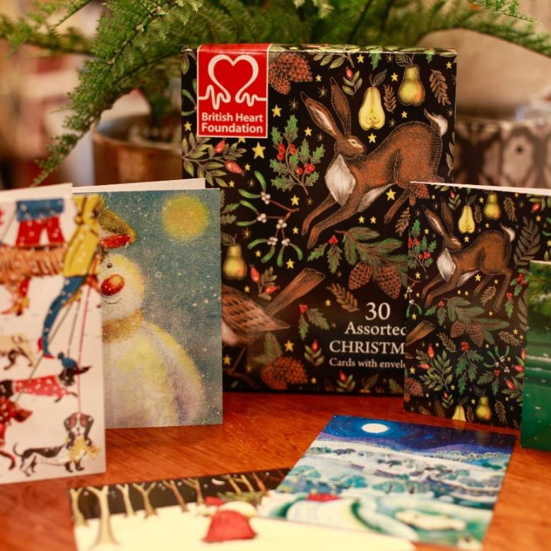 30 Christmas Card British Heart Foundation Charity Box By M&G