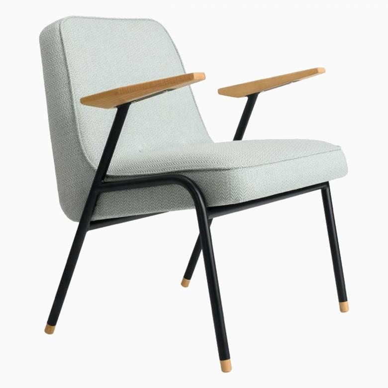 366 Metal Armchair - Tweed Fabrics