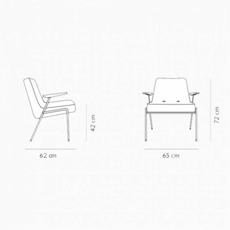 366 Metal Armchair - Type 3 Fabric