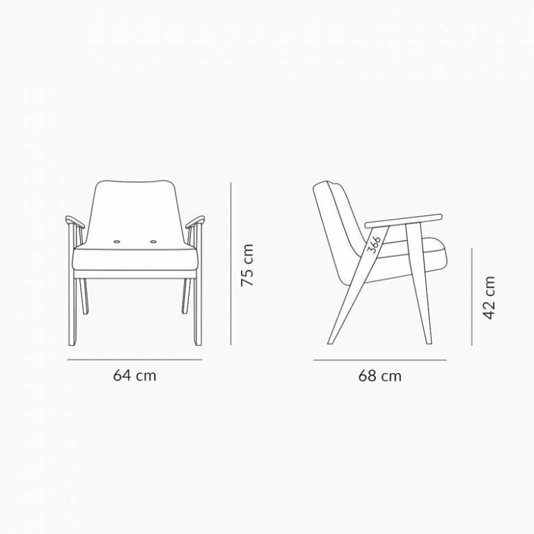 366 Plus Armchair - Shine Velvet Fabrics