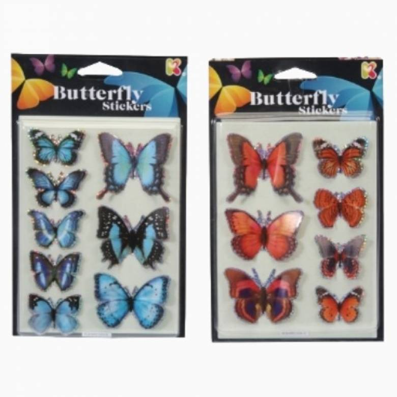 3D Butterfly Stickers 3+