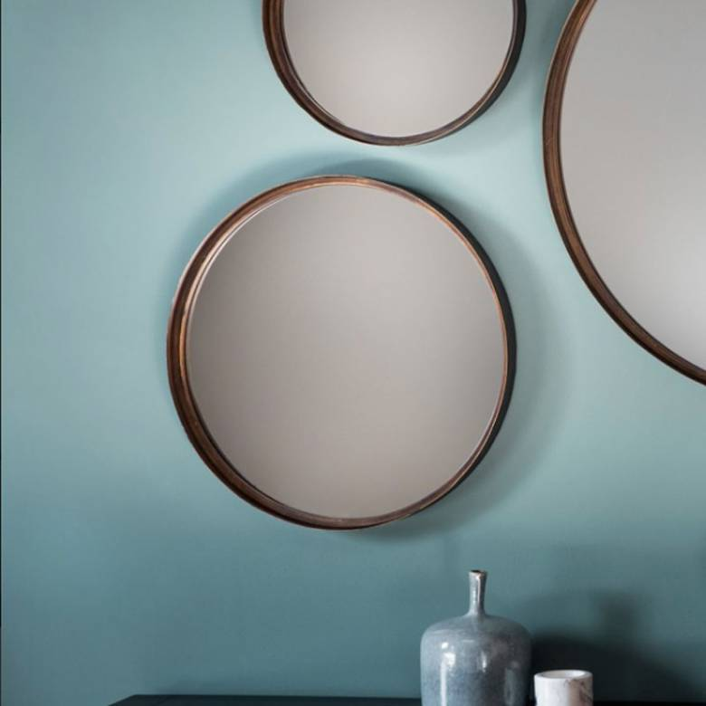 Round Bronze Mirror 41x41cm