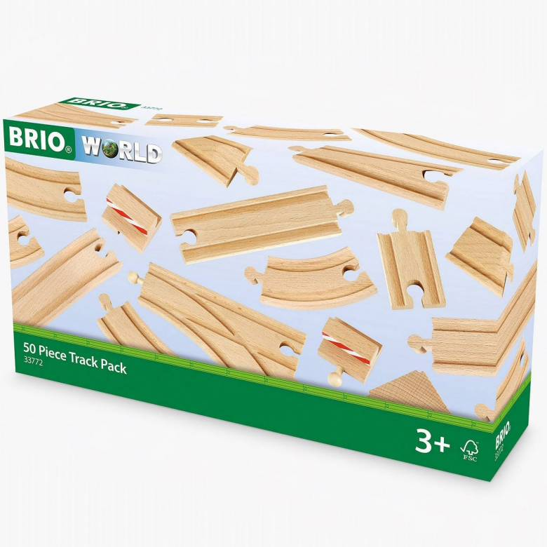50 Piece Expansion Track BRIO Wooden Railway