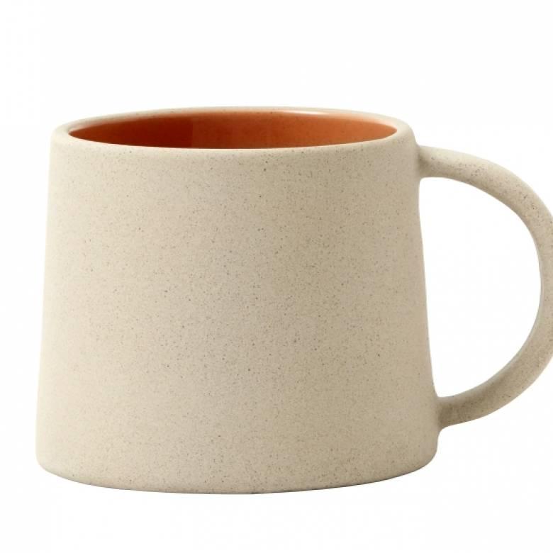 Stoneware Mug Beige / Peach