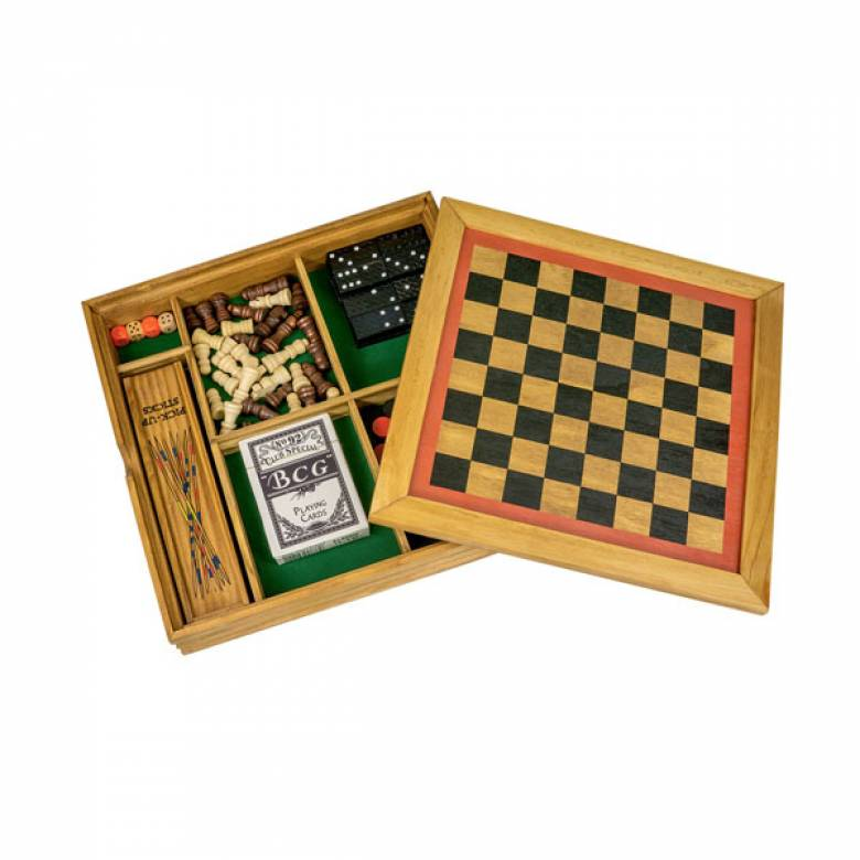 Six In One Handcrafted Wooden Games Compendium