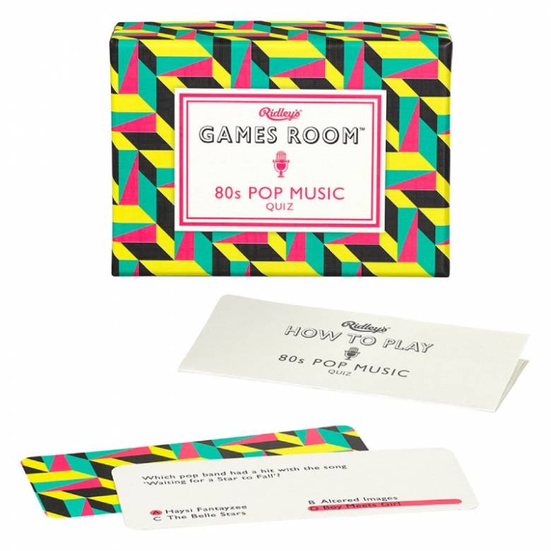 80s Pop Music Quiz Game In Retro Box