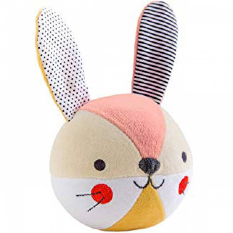 Baby Chime Ball Bunny Rabbit 0yrs + By Petit Collage