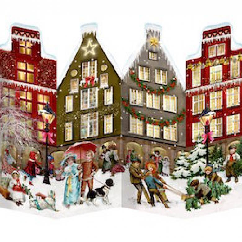 Nostalgic Leporello Houses Advent Calendar