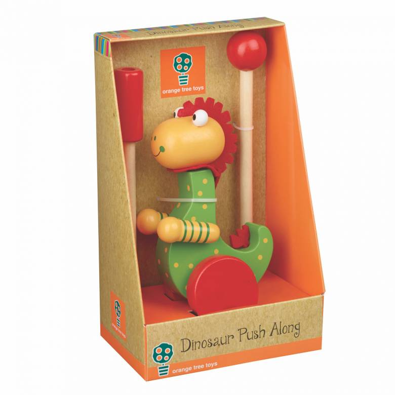 Dinosaur Push Along Toy By Orange Tree 12mth+